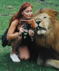 Tory Canzonetta reading Lair of the Lion